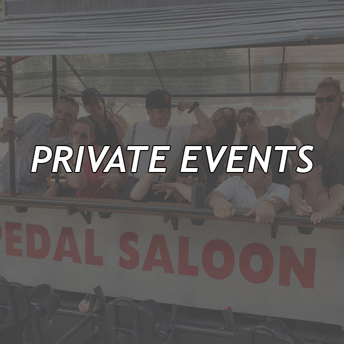 Private Events aboard the Pedal Saloon!