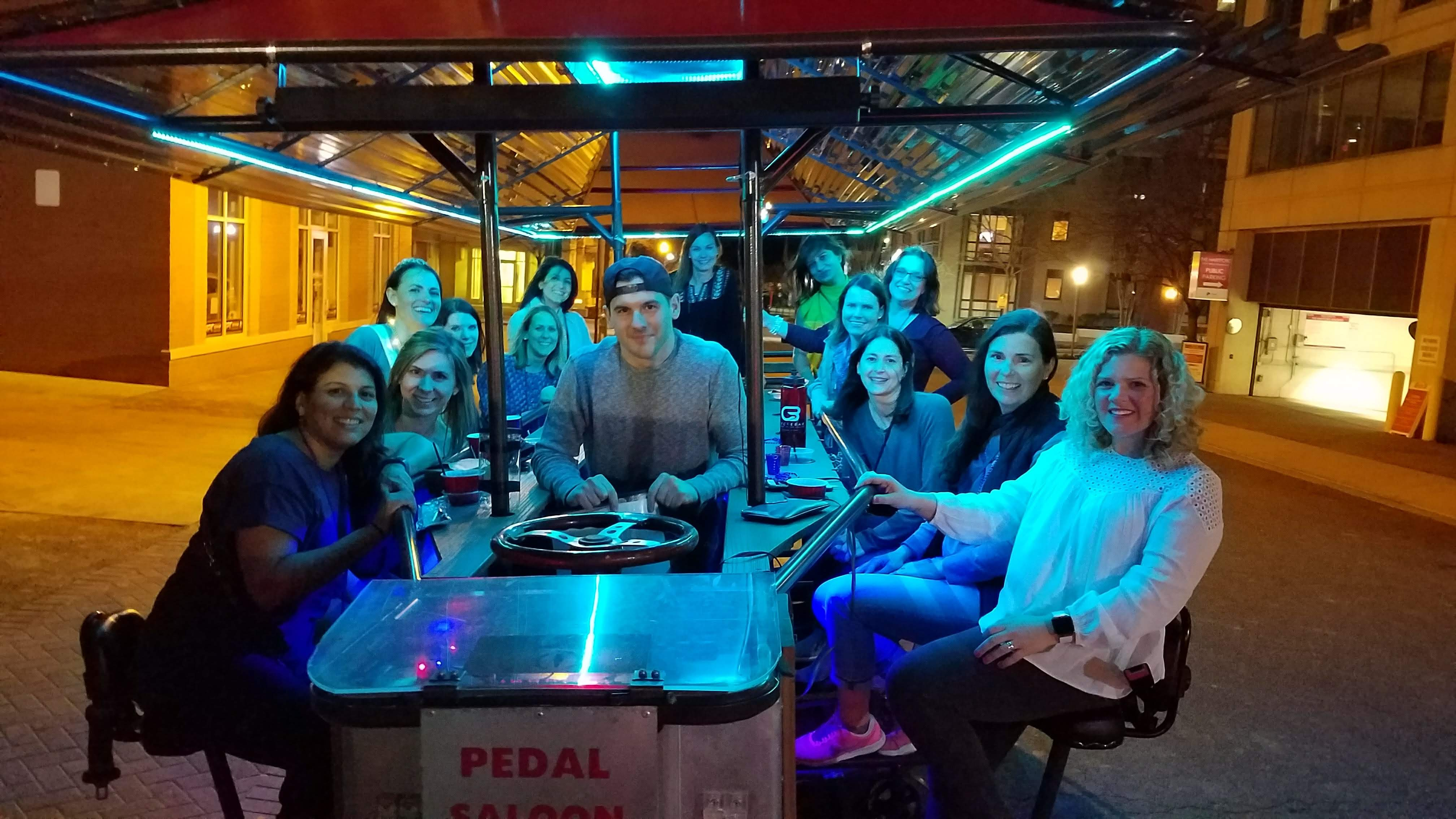 Pedal Saloon party tour group